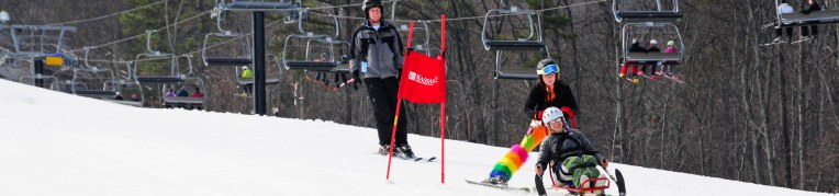 Therapeutic Adventures helps individuals with disabilities ride the ski slopes at Massanutten Resort