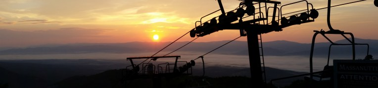 A scenic chairlift ride at Massanutten Resort during the fall