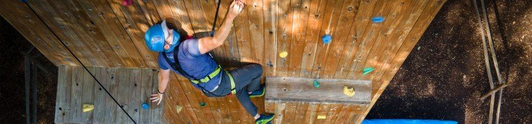 The Climbing Wall at Massanutten Family Adventure Park