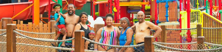 A family at Massanutten Indoor WaterPark