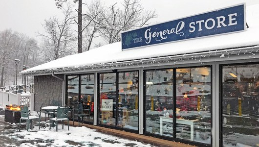 The General Store in the snow