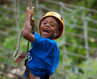 A boy at the Massanutten Family Adventure Park