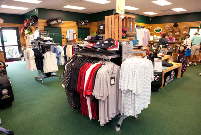 merchandise in the pro shop