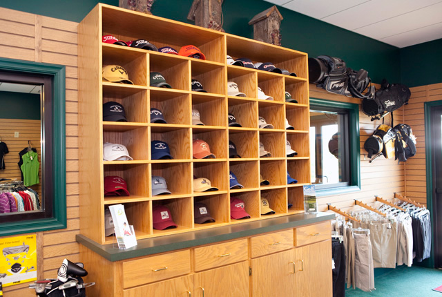 merchandise in pro shop