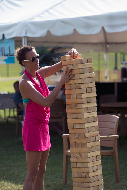 playing extra large Jenga