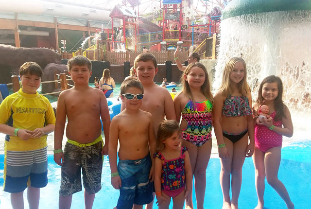 A Party Group at the WaterPark